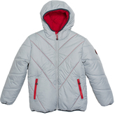 Big Chill White Solid Bubble Jacket - Toddler & Boys