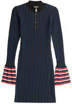 Emilio Pucci Striped Knit Dress with Contrast Cuffs