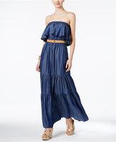 MICHAEL Michael Kors Belted Ruffle Dress