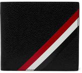 Thom Browne Striped Pebble-Grain Leather Billfold Wallet