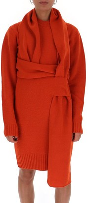 Bottega Veneta Wrap Detail Knit Dress