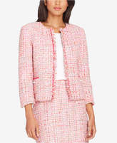 Tahari ASL Fringe-Trim Tweed Blazer, Regular & Petite