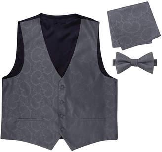 Asstd National Brand Paisley Vest, Bow Tie and Pocket Square Set