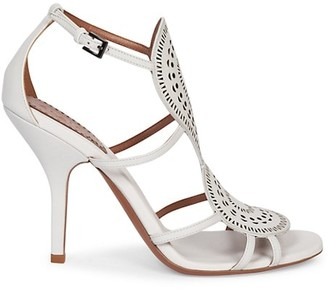 Azzedine Alaia Perforated Leather Sandals