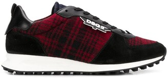 DSQUARED2 checked running sneakers