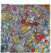 Faliero Sarti cartoon print scarf