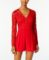 One Clothing Juniors' Lace Romper