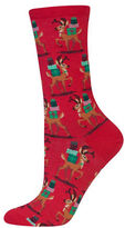 Hot Sox Reindeer and Presents Socks