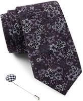Ben Sherman Floral Tie & Lapel Pin Box Set