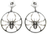 Irit Design - Sterling Silver and Diamond Hoops with Removable Spiders