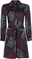 Armani Jeans Wrap floral shirt dress in fantasia nero