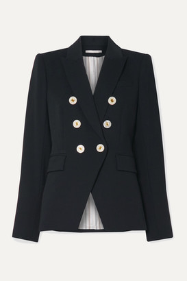 Veronica Beard Miller Dickey Double-breasted Crepe Blazer - Navy