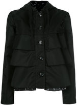 Emporio Armani ruffled hooded jacket - women - Polyamide/Polyester - 40