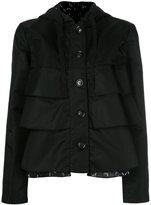 Emporio Armani ruffled hooded jacket