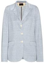 Loro Piana Check Cotton And Linen-blend Blazer