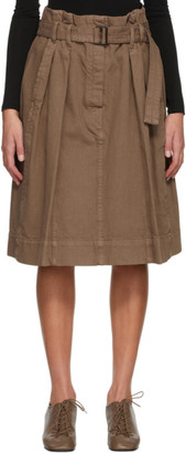 Lemaire Brown Denim Bell Skirt
