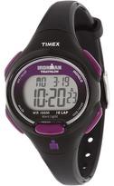 Timex Sport Ironman Black and Purple Mid Size 10 Lap Watch