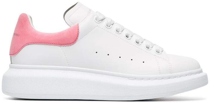 Alexander McQueen White Exaggerated Sole Leather Sneakers