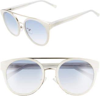 Colors In Optics Beekman 53mm Round Aviator Sunglasses