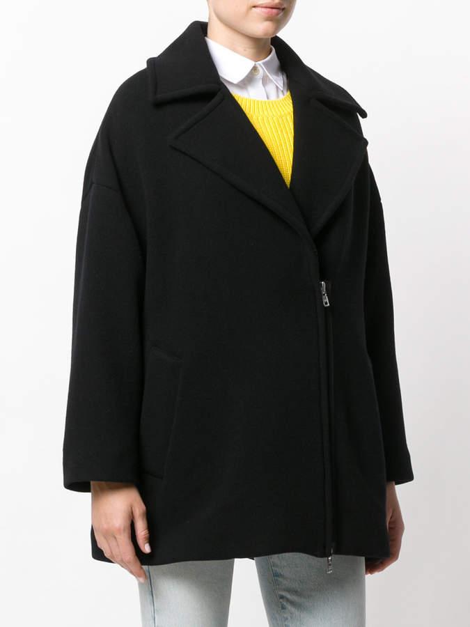 Barena dislocated fastening boxy coat