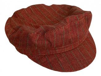 Isabel Marant Burgundy Linen Hats