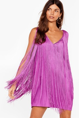 Nasty Gal Womens Swing into Action Fringe Mini Dress - Pink - 4