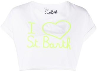 MC2 Saint Barth Love logo cropped T-shirt