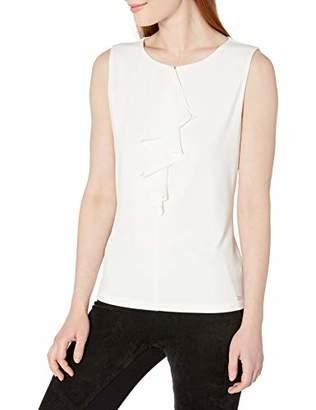 Calvin Klein Women's Ruffle Front Sleeveless Knit Top