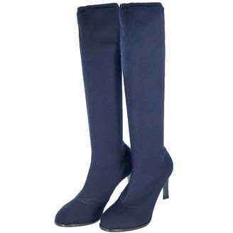 Jil Sander Navy Cloth Boots