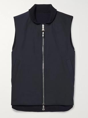 Mr P. Reversible Padded Wool-Blend Gilet