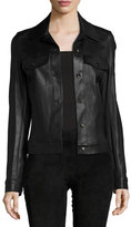 The Row Coltra Lambskin Leather Jacket, Black