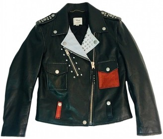 Coach Black Leather Leather jackets