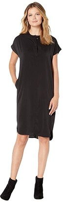 Dakota American Rose Short Sleeve Dress (Black) Women's Clothing