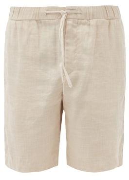 Frescobol Carioca Drawstring Linen-blend Shorts - Beige