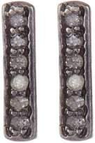 ADORNIA Sterling Silver Mini Barra Champagne Diamond Stud Earrings - 0.15 ctw