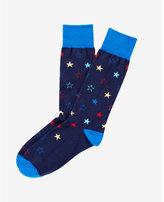 Express star print dress socks
