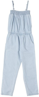 Finger In The Nose Striped Cotton Chambray Jumpsuit