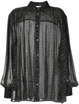 Anine Bing Caleb silk zebra print blouse