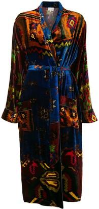 Pierre Louis Mascia Mixed-Print Ti-Waist Coat