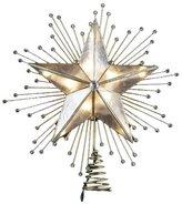 """Kurt Adler 10"""" 5-Point Capiz Star Treetop w/ Rays & Beads"""