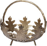 Bradburn Gallery Home 11 Maple Leaf Planter, Antiqued Brass