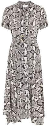 A.L.C. Clarkson Snake-print Silk Midi Dress