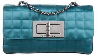 Chanel Satin Chocolate Bar Mademoiselle Flap Bag