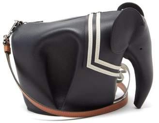 Loewe Sailor Elephant Leather Cross-body Bag - Womens - Navy White