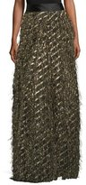 Milly Fringed Diagonal Metallic Ball Skirt