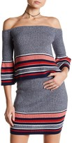 Lovers + Friends Skye Off-the-Shoulder Stripe Knit Blouse