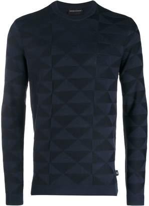 Emporio Armani geometric long-sleeve jumper