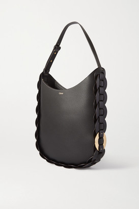 Chloé Darryl Medium Braided Textured-leather Shoulder Bag - Black