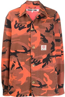 McQ Swallow Camouflage Print Jacket