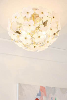 Anthropologie Abella Flush Mount By in White Size ONE SIZE